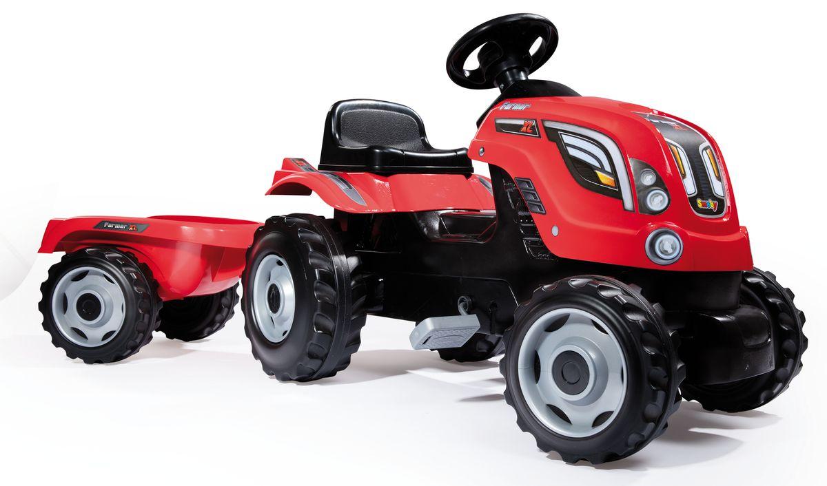 Smoby Трактор педальный Farmer XL с прицепом цвет красный - Каталки, понициклы