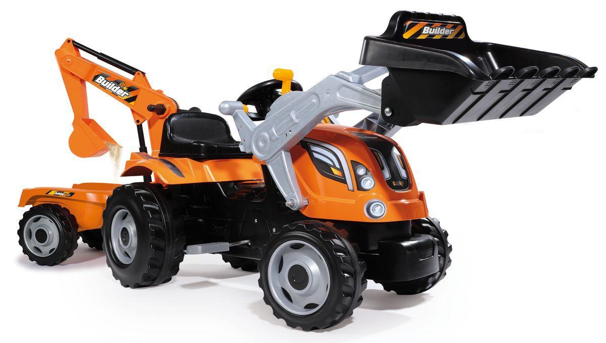Smoby Трактор педальный строительный Builder Max smoby горка волна