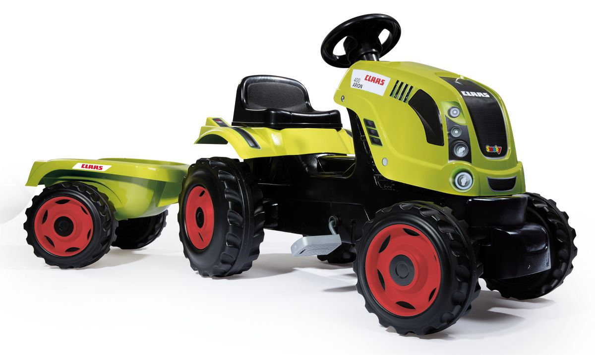 Smoby Трактор педальный CLAAS XL с прицепом конструктор playmobil 1 2 3 трактор с прицепом 6964pm