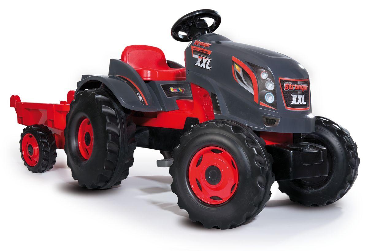 Smoby Трактор педальный Stronger XXL с прицепом -  Каталки, понициклы