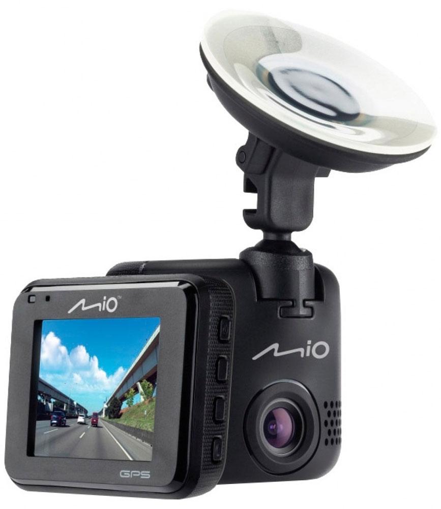 Mio Mivue C333, Black видеорегистраторMivue С333Видеорегистратор Mio MiVue C333 был создан с учетом потребностей пользователей.В дополнение к стандартномукреплению с присоской, также прилагается крепление на скотче 3М. Mio MiVue C333 оснащен светосильной оптикой с пятью линзами и апертурой f/2.0, инфракрасным фильтром и имеет угол обзора 130°, которого хватает для того, чтобы в кадр попадало всё лобовое стекло и не искажалась геометрия объектов.Модель укомплектована датчиком удара с функцией принудительной записи. В случае ДТП, устройство автоматически начинает записыватьвидео в нестираемый буфер. Снятый ролик хранится в защищенном разделе на карте памяти и не может быть удален. В случае разбирательств, видео поможет определить виновника.Встроенный модуль GPS записывает в видео координаты автомобиля и предупреждает водителя о стационарных камерах контроля скорости. Также предусмотрена возможность самому добавлять камеры, не попавшие в базы данных.Чтобы не отвлекать вас во время вождения, на дисплее будет указана текущая скорость движения и точное время. При приближении к камерам контроля скорости, на экране появится предупреждение об ограничении.Теперь фотографии можно делать в процессе режима видеосъёмки, всего лишь нажав на кнопку фотоаппарата на экране видеорегистратора.Запатентованное умное оповещение о камерах контроля скорости заранее предупреждает водителя. Дистанция до камеры выбирается автоматически в зависимости от вашей скорости.Штамп в кадре отображает дату, время, скорость и координаты сделанной записи. Позволяет добавить государственный номер автомобиля, на котором установлен видеорегистратор.Формат файла: MP4