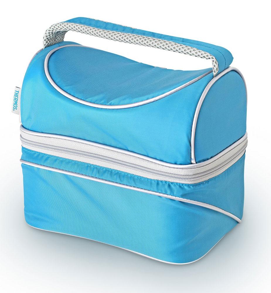 Термосумка Thermos Poptop Dual, цвет: голубой, 6,5 л469458Thermos Poptop Dual -это термосумка, которая очень пригодится в поездке для перевозки косметических и лекарственных средств, требующих поддержания определенных температурных условий хранения. Благодаря ее изоляционному слою, сумка позволяет сохранять продукты свежими, а напитки холодными даже в жару. Объем: 6,5 л.