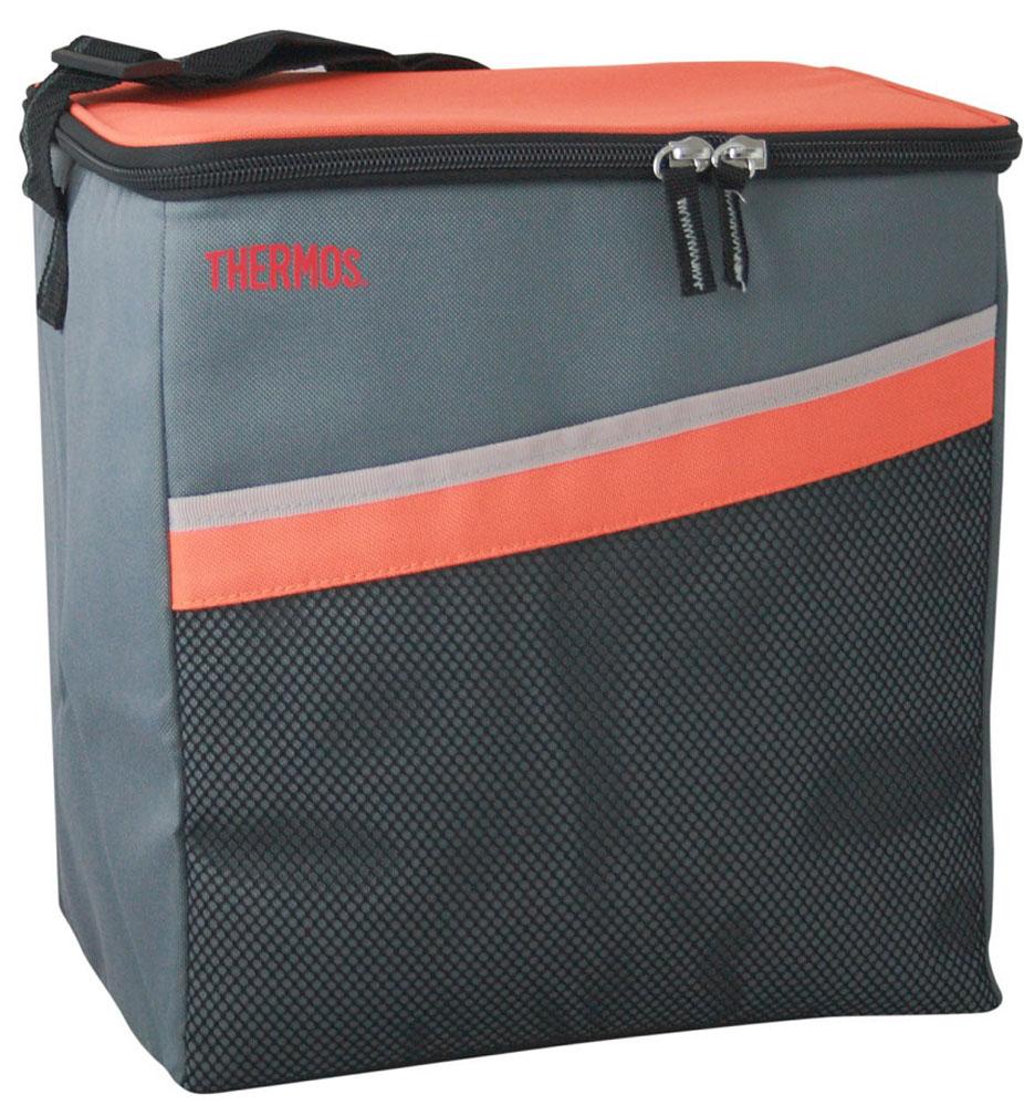 Термосумка Thermos Classic 24 Can Coole, цвет: оранжевый, серый, 17 л516954Термосумка складная Classic 24 Can Coole отличная альтернатива твердому пластиковому термобоксу. Фронтальные стенки и крышка выполнены из твердого пластика. Боковые стенки и дно съемные, благодаря чему изделие полностью складывается. Объем: 17 л.