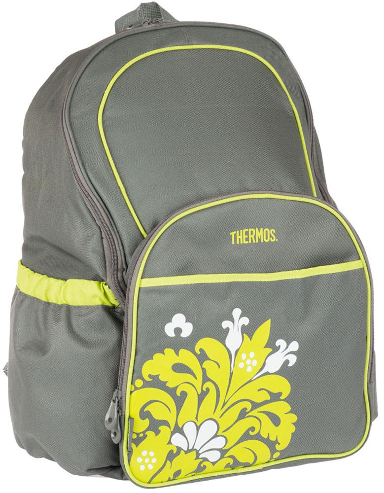 Термосумка Thermos Diaper, цвет: серый, 30 л548795Рюкзак-термос для мамы Diaper очень удобен на прогулках и в поездках.Рюкзак оснащен большим количеством карманов и отделений., также онукомплектован многоразовой пеленкой. Объем: 30 л.