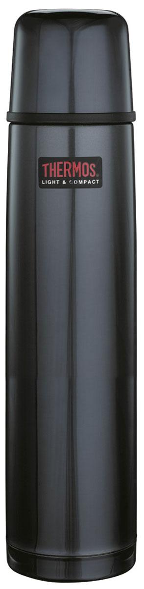 Термос Thermos, цвет: темно-синий, 1 л. 1000BC853288Термосы из нержавеющей стали FBB предпочитают приверженцы высоких технологий и всего самого совершенного. Небьющиеся стенки термоса из нержавеющей пружинной стали 18/8 способны противостоять внешним повреждениям и вмятинам. Удобная пробка клапанного типа, открывающаяся одним нажатием, легко разбирается для чистки. Чашка–крышка из нержавеющей стали позволит наслаждаться своим напитком, где бы в любом месте. Этот термос очень легкий и компактный, удобен в транспортировке и хранении.Объем: 1л.