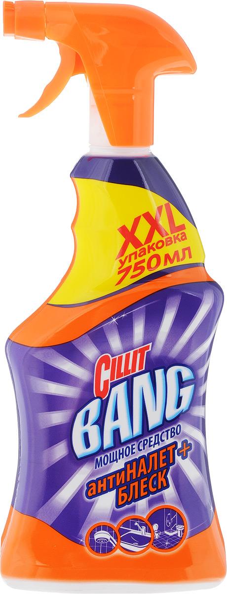 CIllit Bang чистящее средство для ванной антиНАЛЕТ+БЛЕСК (спрей), 750 мл чистящее средство uniplus для стекол блеск 750 мл