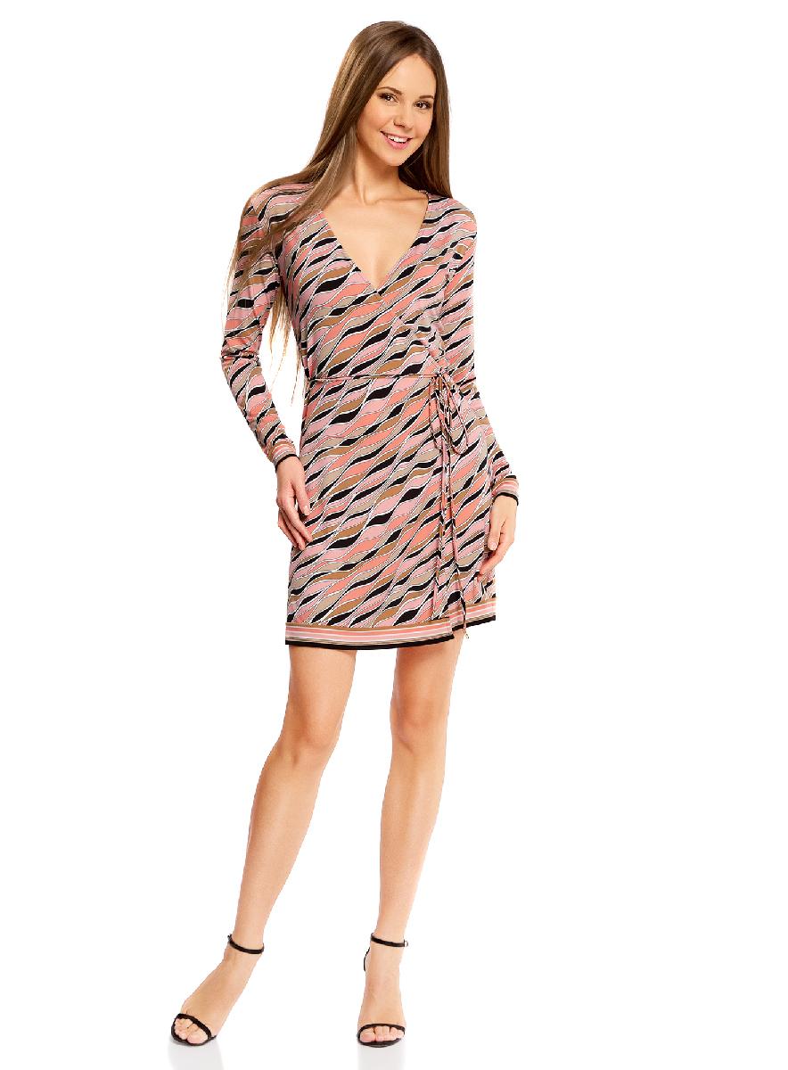 Платье oodji Ultra, цвет: черный, коралловый. 14000167/46384/2943O. Размер M (46-170) кофеварка sinbo scm 2943