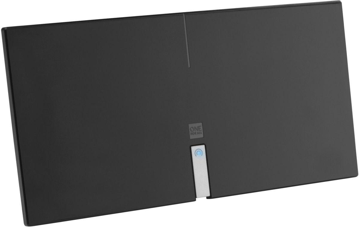 One For All SV9435 Premium Line, комнатная ТВ антеннаSV9435Лежа, стоя или на стене, One For All SV9435 Premium Line будет вписываться в любой интерьер. Может принимать все ваши любимые каналы в 4К Ultra HD, будь то телевидение (DVB-T/Т2) или радио (DAB+). Уникальная автоматическая регулировка усиления обеспечивает оптимальное усиление в любом месте. Для лучшей производительности One For All рекомендуют использовать эту антенну в пределах 25 км от ближайшего передатчика.Необходимый уровень усиления изменяется время от времени. Автоматическая регулировка усиления обеспечивает правильный уровень усиления все время. Минимальное вмешательство помех благодаря активным фильтрам подавления шума. В том числе 4G и GSM фильтры для кристально чистого приема.Для приема цифрового эфирного телевидения необходим телевизор с поддержкой стандарта DVB-T2. Если у телезрителя аналоговый приемник, то нужна цифровая приставка стандарта DVB-T2.Работа с радиодиапазонами VHF и UHFКоэффициент шума: 3,5 дБКоэффициент усиления: до 46 дБУгол приёма: 360 градусовДлина коаксиального кабеля: 1,5 метраАктивное шумоподавление