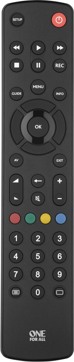 One For All Contour TV URC1210 Black, пульт ДУ универсальный