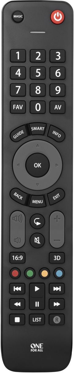 все цены на One For All Evolve TV URC7115 Black, пульт ДУ универсальный