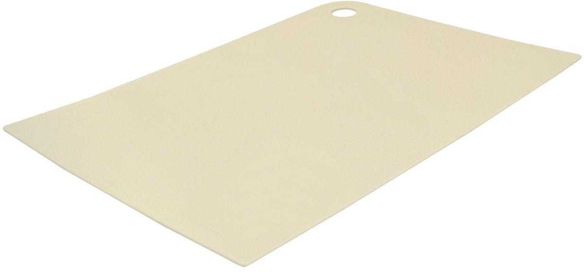 Доска разделочная Giaretti Delicato, гибкая, цвет: сливочный, 35 х 25 смGR1881СЛМаленькие и большие, под хлеб или сыр, овощи или мясо. Разделочных досок много не бывает. Giaretti предлагает новинку – гибкие доски.Преимущества:-не скользит по поверхности стола - вы можете резать продукты и не отвлекаться на мелочи; -удобно использовать - на гибкой доске вы сможете порезать продукты, согнув доску переложить их в блюдо и не рассыпать содержимое;-легкие доски займут мало места на вашей кухне;-легко моются в посудомоечной машине; -оптимальный размер доски позволят вам порезать небольшой кусок сыра или нашинковать много овощей.