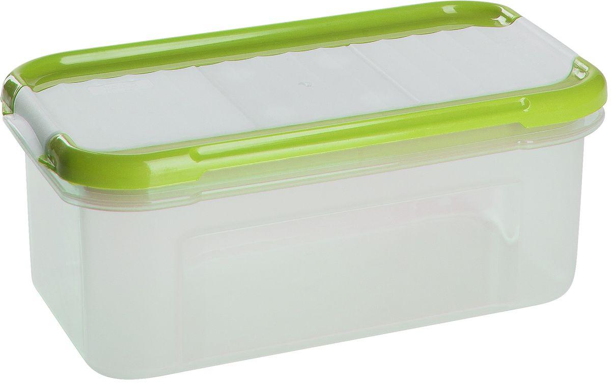 Банка для сыпучих продуктов Giaretti Krupa, с дозатором, цвет: оливковый, прозрачный, 0,5 лGR2234ОЛБанки для сыпучих продуктов предназначены для хранения круп, сахара, макаронных изделий, сладостей и т.п., в том числе для продуктов с ярким ароматом (специи и пр.). Строгая прямоугольная форма банок поможет Вам организовать пространство максимально комфортно, не теряя полезную площадь. При этом банки устанавливаются одна на другую, что способствует экономии пространства в Вашем шкафу. Плотная крышка не пропускает запахи, и они не смешиваются в Вашем шкафу. Благодаря разнообразным отверстиям в дозаторе, Вам будет удобно насыпать как мелкие, так и крупные сыпучие продукты, что сделает процесс приготовления пищи проще.