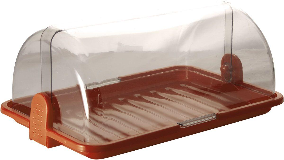 Хлебница Plastic Centre, цвет: коричневый, прозрачный, 38,5 х 26 х 16,5 смПЦ1670КЧХлебница Plastic Centre, выполненная из полипропилена, сохранит хлеб свежим длительное время. Оптимальный размер хлебницы подойдет для любой кухни.
