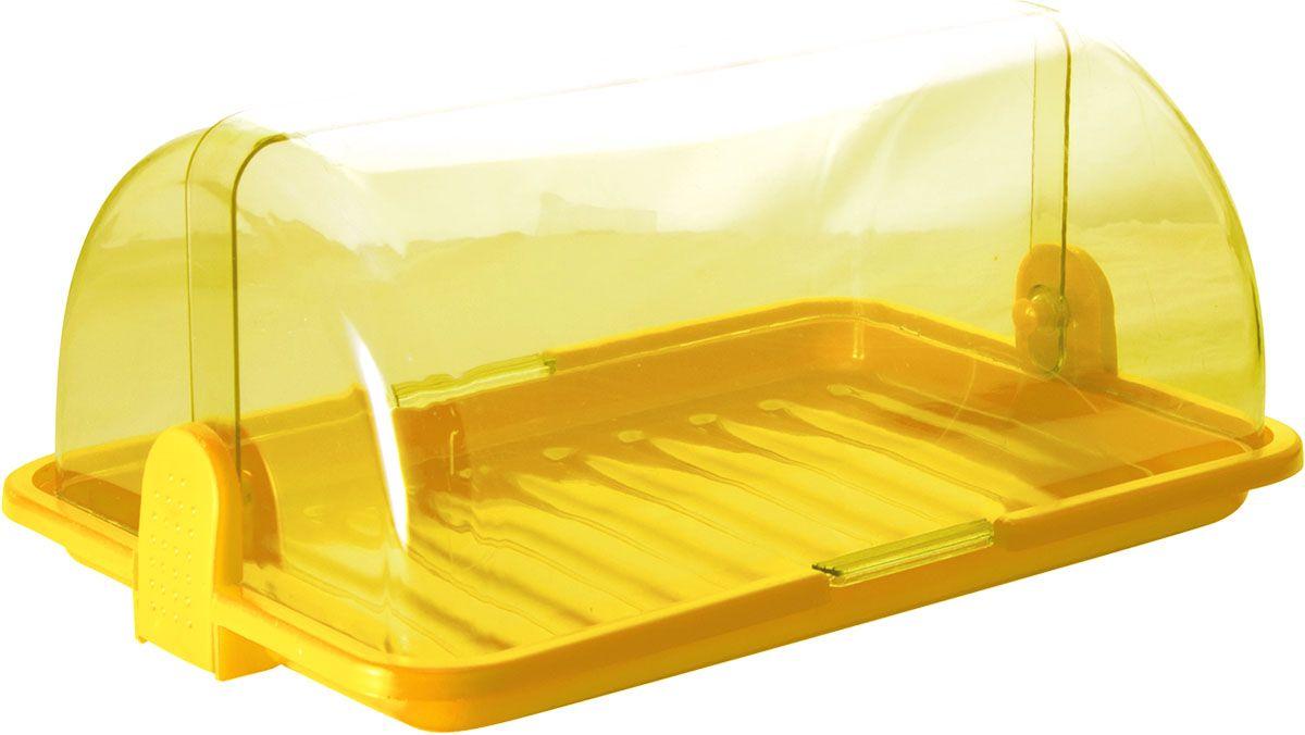 Хлебница Plastic Centre, цвет: желтый, прозрачный, 38,5 х 26 х 16,5 см1984-5_синий, бирюзовый, белыйХлебница Plastic Centre, выполненная из полипропилена, сохранит хлеб свежим длительное время. Оптимальный размер хлебницы подойдет для любой кухни.
