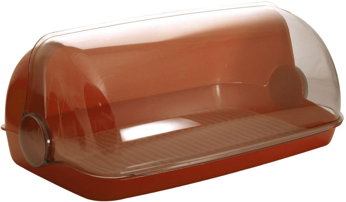 Хлебница Plastic Centre Пышка, цвет: коричневый, прозрачный, 32,5 х 22 х 17 смПЦ1672КЧУниверсальная форма хлебниц Plastic Centre Пышка подойдет для любой кухни. Хлебница выполнена из полипропилена. Решетка внутри хлебницы поможет сохранить хлеб свежим долгое время.