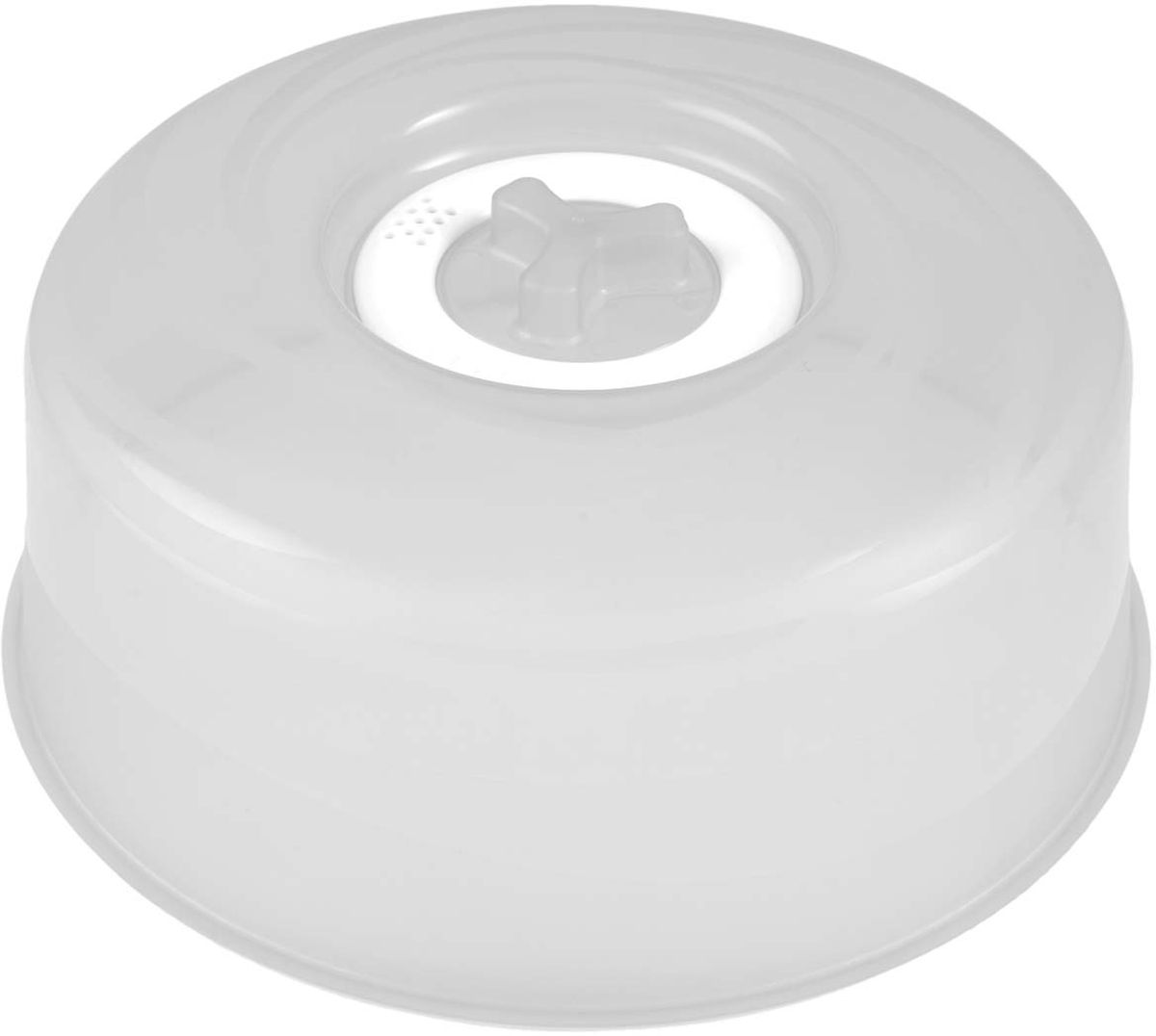 Крышка для СВЧ Plastic Centre Galaxy, с паровыпускным клапаном, цвет: прозрачный, диаметр 25 см емкость для свч plastic centre galaxy цвет желтый прозрачный 4 75 л