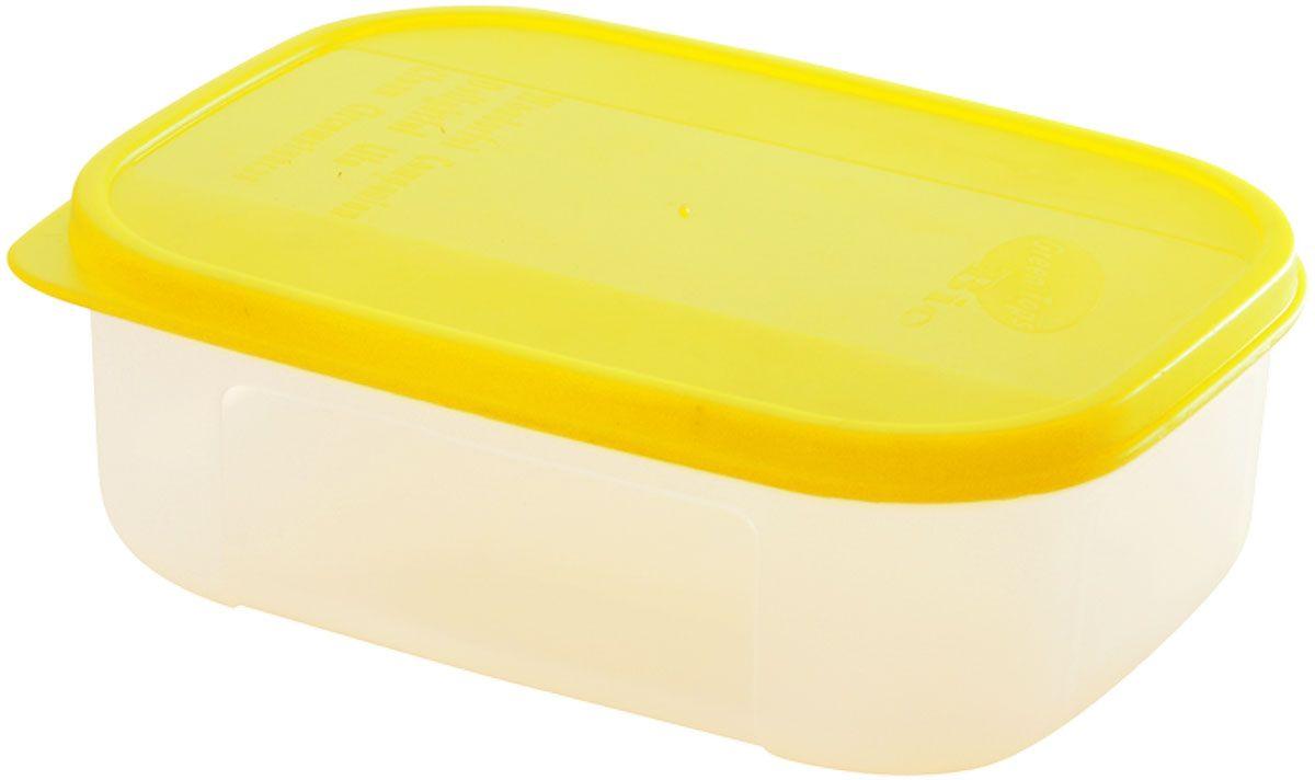 Контейнер для пищевых продуктов Plastic Centre Bio, цвет: желтый, прозрачный, 1,3 л емкость для свч plastic centre galaxy цвет желтый прозрачный 4 75 л