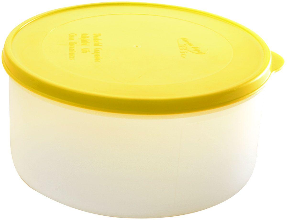 Емкость для продуктов Plastic Centre Bio, цвет: желтый, прозрачный, 1 л емкость для свч plastic centre galaxy цвет желтый прозрачный 4 75 л