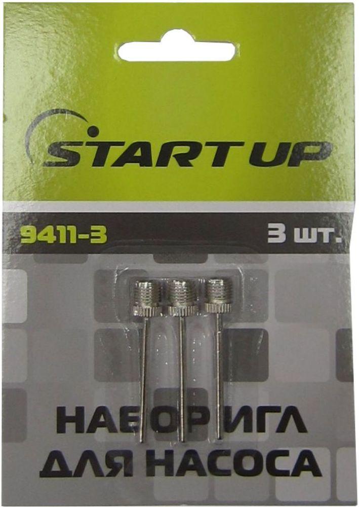 Набор игл для насоса Start Up, 3 шт. 9411-3328938Набор для насоса Start Up включает в себя 3 металлических иглы для накачивания мячей. Этот набор пригодится для настоящих любителей игр с мячом. Гид по велоаксессуарам. Статья OZON Гид