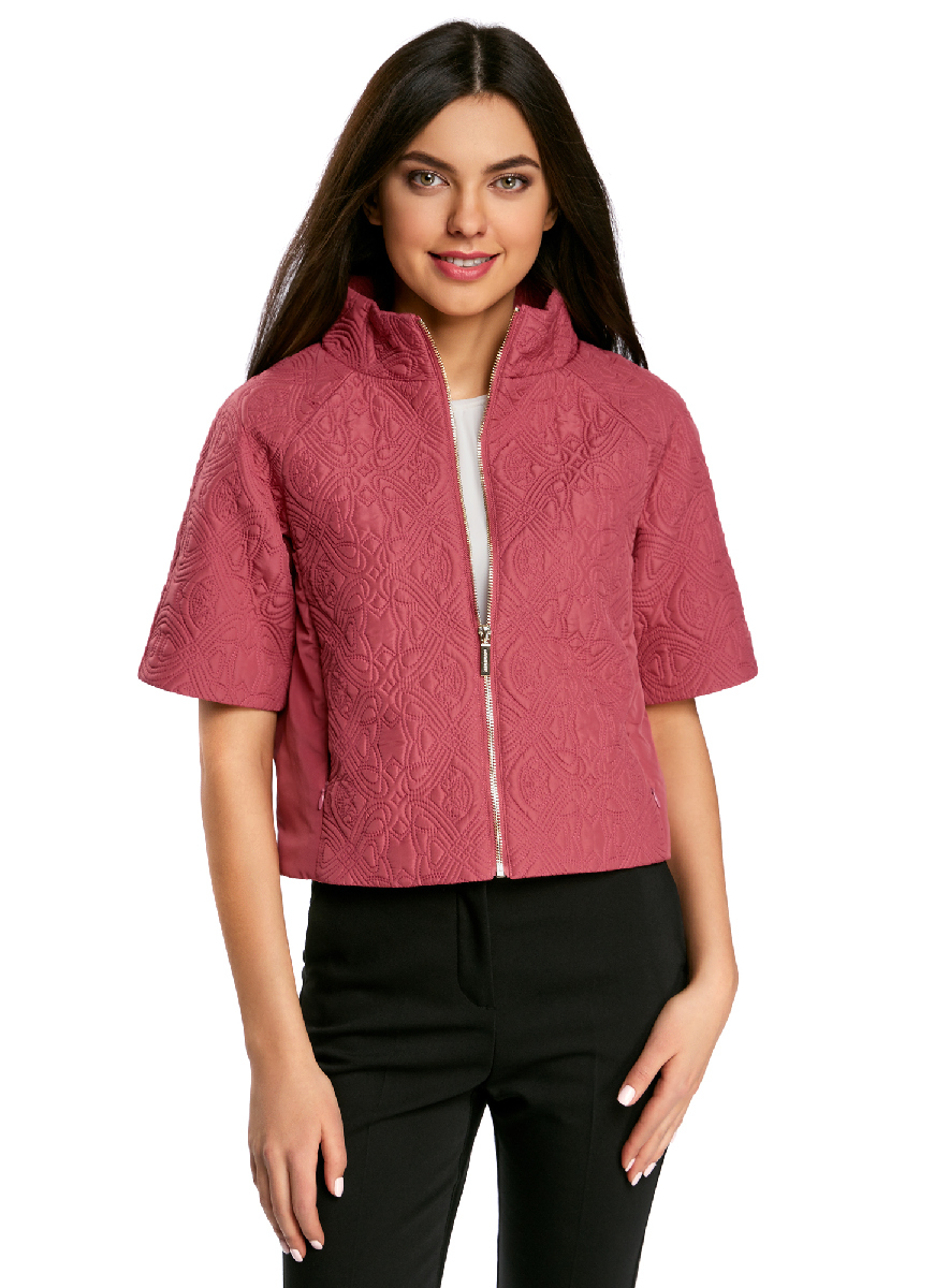 Куртка женская oodji Ultra, цвет: розовый. 10207002-2/45366/4A00N. Размер 42-170 (48-170)10207002-2/45366/4A00NЖенская куртка oodji Ultra выполнена из высококачественного материала, в качестве подкладки используется полиэстер. Утеплитель - синтепон. Модель с воротником-стойкой застегивается на застежку-молнию. Спереди расположено два втачных кармана на потайных застежках-молниях.