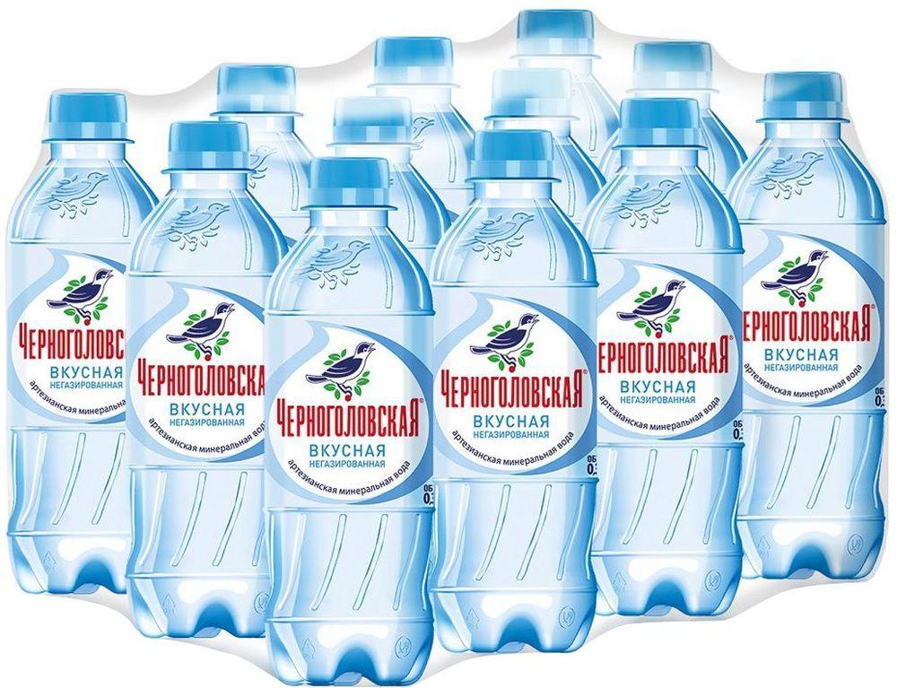 Черноголовская вкусная артезианская минеральная негазированная вода 12 шт по 0,33 л черноголовская вкусная артезианская минеральная вода газированная 6 шт по 1 5 л