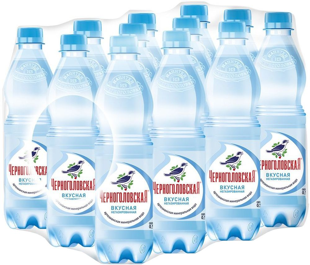 Черноголовская вкусная артезианская минеральная вода негазированная 12 шт по 0,5 л черноголовская вкусная артезианская минеральная вода газированная 6 шт по 1 5 л