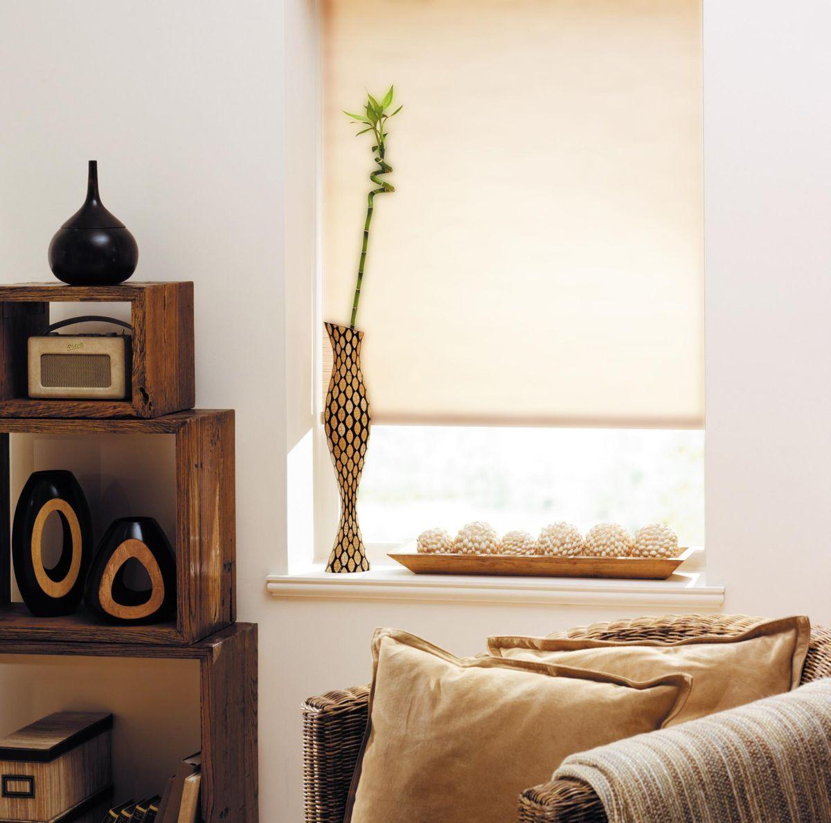 Штора рулонная Эскар Ролло. Однотонные, цвет: бежевый лен, ширина 60 см, высота 170 см62.РШТО.8990.040х175Рулонными шторами можно оформлять окна как самостоятельно, так ииспользовать в комбинации с портьерами. Это поможет предотвратитьвыгорание дорогой ткани на солнце и соединит функционал рулонных скрасотой навесных. Преимущества применения рулонных штор для пластиковых окон: - имеют прекрасный внешний вид: многообразие и фактурность материалаизделия отлично смотрятся в любом интерьере;- многофункциональны: есть возможность подобрать шторы способныеэффективно защитить комнату от солнца, при этом о на не будет слишкомтемной.- Есть возможность осуществить быстрый монтаж. ВНИМАНИЕ! Размеры ширины изделия указаны по ширине ткани! Во время эксплуатации не рекомендуется полностью разматывать рулон, чтобыне оторвать ткань от намоточного вала. В случае загрязнения поверхности ткани, чистку шторы проводят одним изспособов, в зависимости от типа загрязнения:легкое поверхностное загрязнение можно удалить при помощи канцелярскоголастика;чистка от пыли производится сухим методом при помощи пылесоса с мягкойщеткой-насадкой;для удаления пятна используйте мягкую губку с пенообразующим неагрессивныммоющим средством или пятновыводитель на натуральной основе (нельзяприменять растворители).
