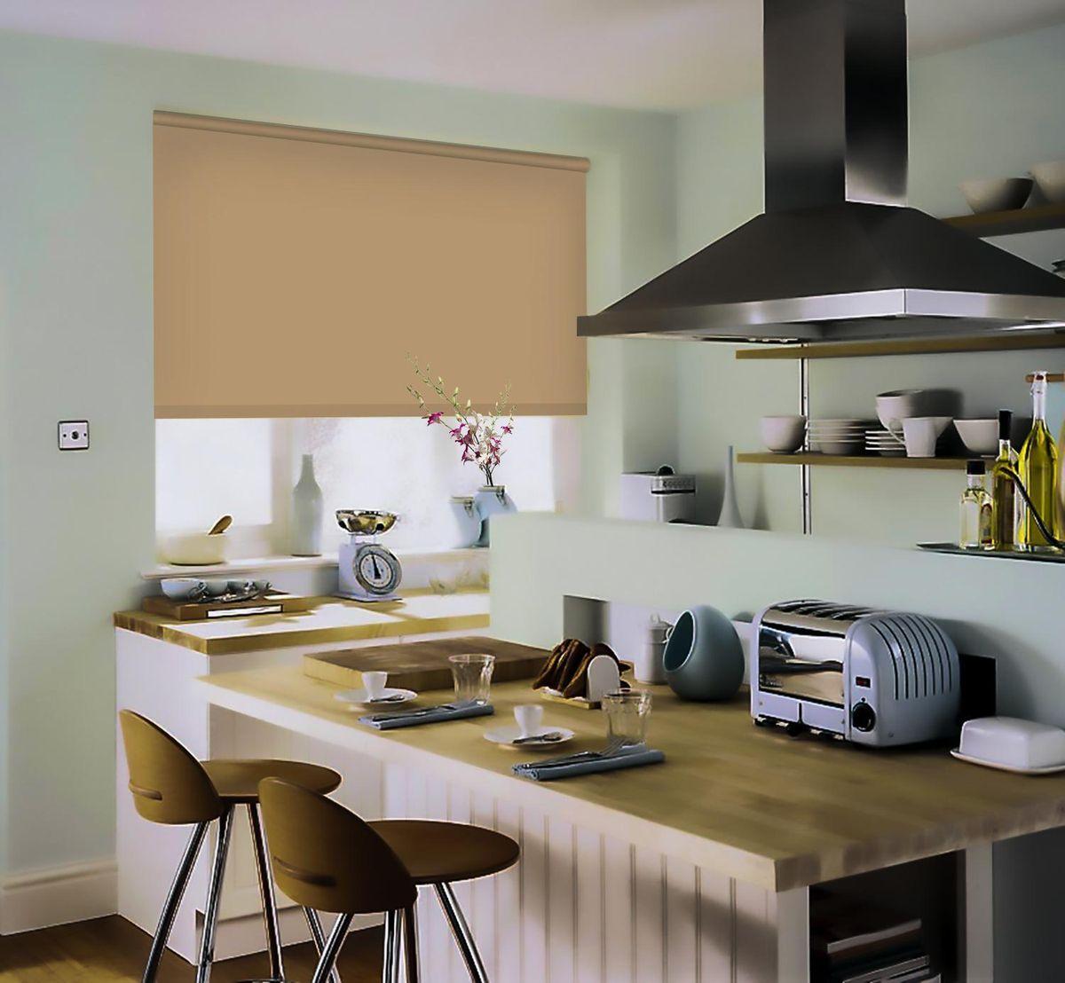 Штора рулонная Эскар, цвет: темно-бежевый, ширина 150 см, высота 170 см81209150170Рулонными шторами можно оформлять окна как самостоятельно, так и использовать в комбинации с портьерами. Это поможет предотвратить выгорание дорогой ткани на солнце и соединит функционал рулонных с красотой навесных.Преимущества применения рулонных штор для пластиковых окон:- имеют прекрасный внешний вид: многообразие и фактурность материала изделия отлично смотрятся в любом интерьере; - многофункциональны: есть возможность подобрать шторы способные эффективно защитить комнату от солнца, при этом о на не будет слишком темной. - Есть возможность осуществить быстрый монтаж. ВНИМАНИЕ! Размеры ширины изделия указаны по ширине ткани!Во время эксплуатации не рекомендуется полностью разматывать рулон, чтобы не оторвать ткань от намоточного вала.В случае загрязнения поверхности ткани, чистку шторы проводят одним из способов, в зависимости от типа загрязнения: легкое поверхностное загрязнение можно удалить при помощи канцелярского ластика; чистка от пыли производится сухим методом при помощи пылесоса с мягкой щеткой-насадкой; для удаления пятна используйте мягкую губку с пенообразующим неагрессивным моющим средством или пятновыводитель на натуральной основе (нельзя применять растворители).