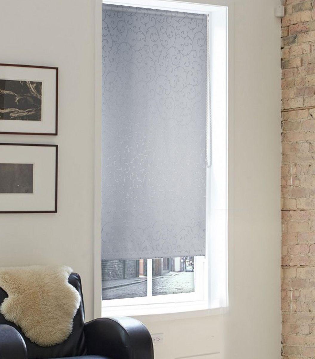"Штора рулонная Эскар ""Ролло. Агат"", цвет: серый, ширина 80 см, высота 160 см"