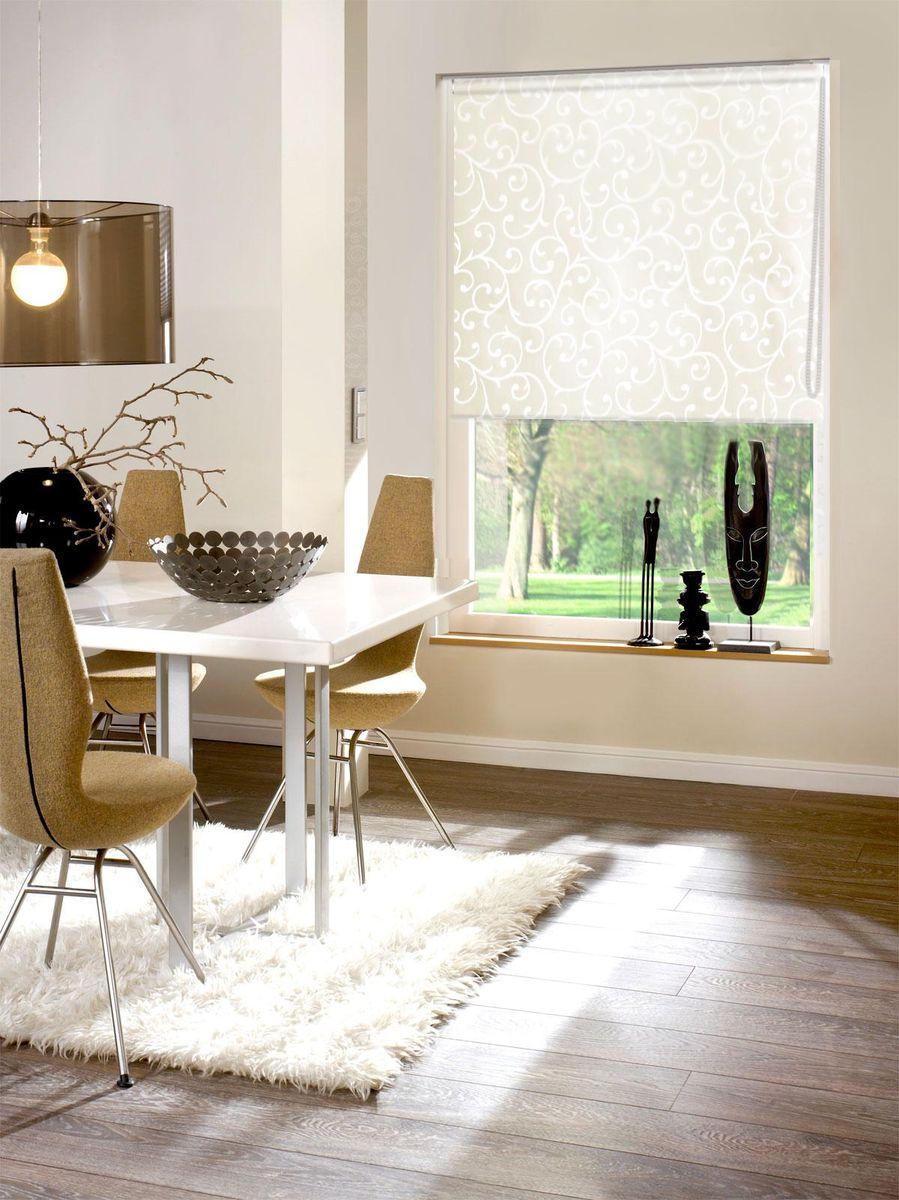 Рулонными шторами можно оформлять окна как самостоятельно, так и  использовать в комбинации с портьерами. Это поможет предотвратить  выгорание дорогой ткани на солнце и соединит функционал рулонных с  красотой навесных.   Преимущества применения рулонных штор для пластиковых окон:   - имеют прекрасный внешний вид: многообразие и фактурность материала  изделия отлично смотрятся в любом интерьере;  - многофункциональны: есть возможность подобрать шторы способные  эффективно защитить комнату от солнца, при этом она не будет слишком  темной.   - Есть возможность осуществить быстрый монтаж.    ВНИМАНИЕ! Размеры ширины изделия указаны по ширине ткани!   Во время эксплуатации не рекомендуется полностью разматывать рулон, чтобы  не оторвать ткань от намоточного вала.   В случае загрязнения поверхности ткани, чистку шторы проводят одним из  способов, в зависимости от типа загрязнения:  легкое поверхностное загрязнение можно удалить при помощи канцелярского  ластика;  чистка от пыли производится сухим методом при помощи пылесоса с мягкой  щеткой-насадкой;  для удаления пятна используйте мягкую губку с пенообразующим неагрессивным  моющим средством или пятновыводитель на натуральной основе (нельзя  применять растворители).