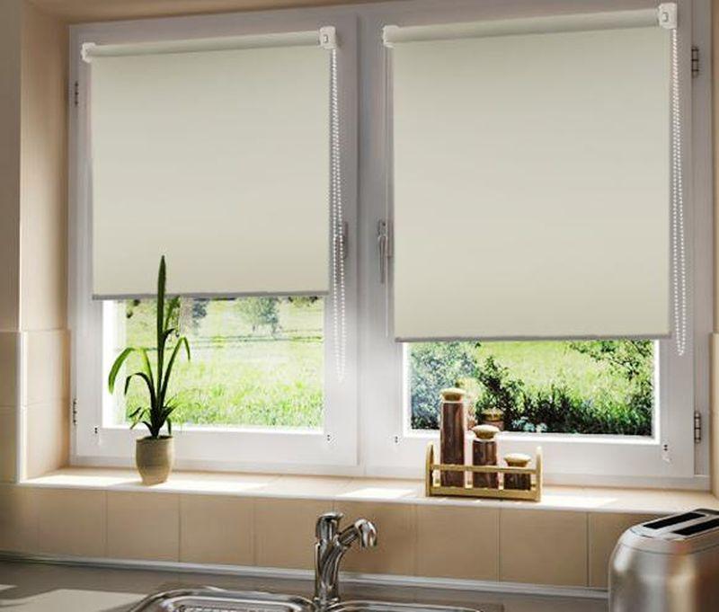 Штора рулонная Эскар Blackout, светоотражающая, цвет: кремовый, ширина 60 см, высота 170 см89109060170Рулонными шторами можно оформлять окна как самостоятельно, так и использовать в комбинации с портьерами. Это поможет предотвратить выгорание дорогой ткани на солнце и соединит функционал рулонных с красотой навесных. Преимущества применения рулонных штор для пластиковых окон: - имеют прекрасный внешний вид: многообразие и фактурность материала изделия отлично смотрятся в любом интерьере;- многофункциональны: есть возможность подобрать шторы способные эффективно защитить комнату от солнца, при этом она не будет слишком темной. - Есть возможность осуществить быстрый монтаж.ВНИМАНИЕ! Размеры ширины изделия указаны по ширине ткани! Во время эксплуатации не рекомендуется полностью разматывать рулон, чтобы не оторвать ткань от намоточного вала. В случае загрязнения поверхности ткани, чистку шторы проводят одним из способов, в зависимости от типа загрязнения:легкое поверхностное загрязнение можно удалить при помощи канцелярского ластика;чистка от пыли производится сухим методом при помощи пылесоса с мягкой щеткой-насадкой;для удаления пятна используйте мягкую губку с пенообразующим неагрессивным моющим средством или пятновыводитель на натуральной основе (нельзя применять растворители).