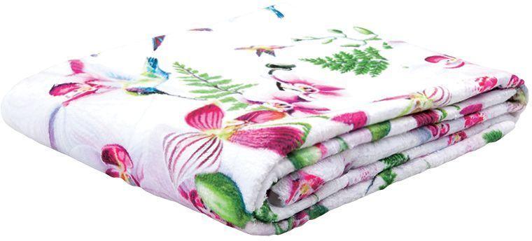 Полотенце банное Mona Liza Orchid, цвет: белый, 70 х 140 см mona liza mona liza полотенце 70 140 summer surf