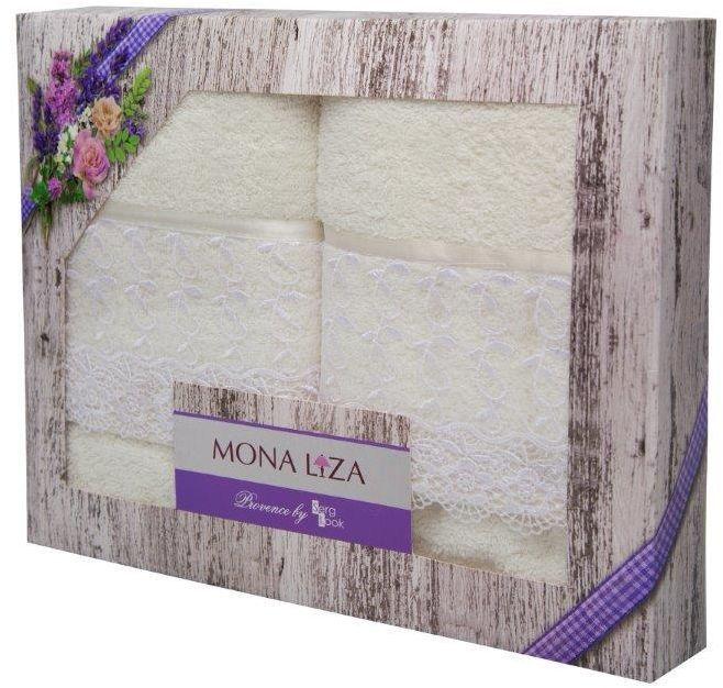 Набор банных полотенец Mona Liza Provence, цвет: кремовый, 50 х 90 см, 70 х 140 см529686Набор из двух полотенец, декорированных кружевом, упакован в подарочную коробку.