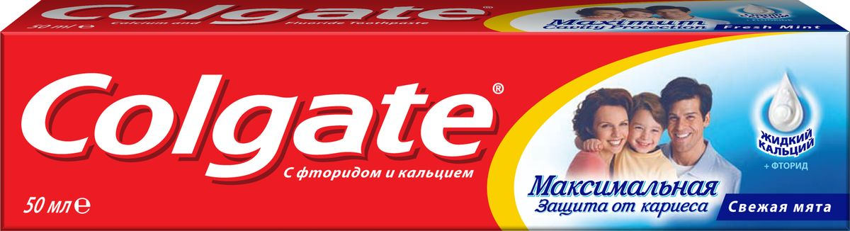 Colgate Зубная паста Максимальная защита от кариеса Свежая мята 50 мл