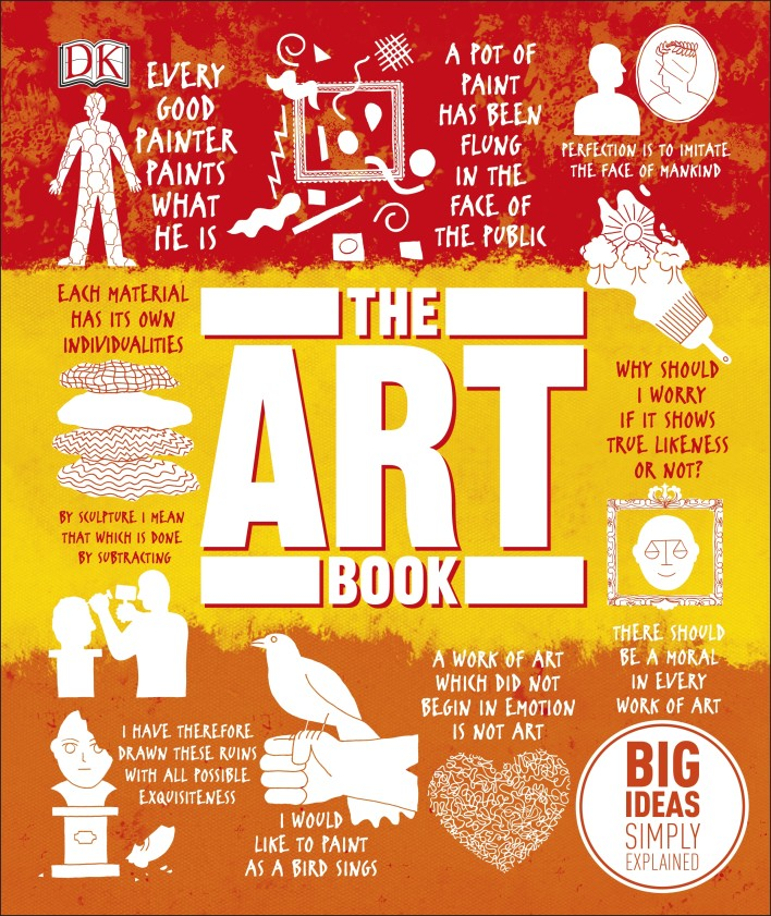 The Art Book: Big Ideas Simply Explained bamboos patterned wall art unframed canvas paintings