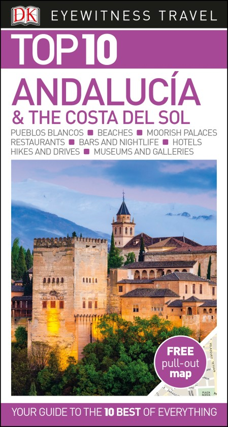 DK Eyewitness Top 10 Travel Guide Andalucia & the Costa del Sol andalucia costa del sol insight travel map 1 300 000