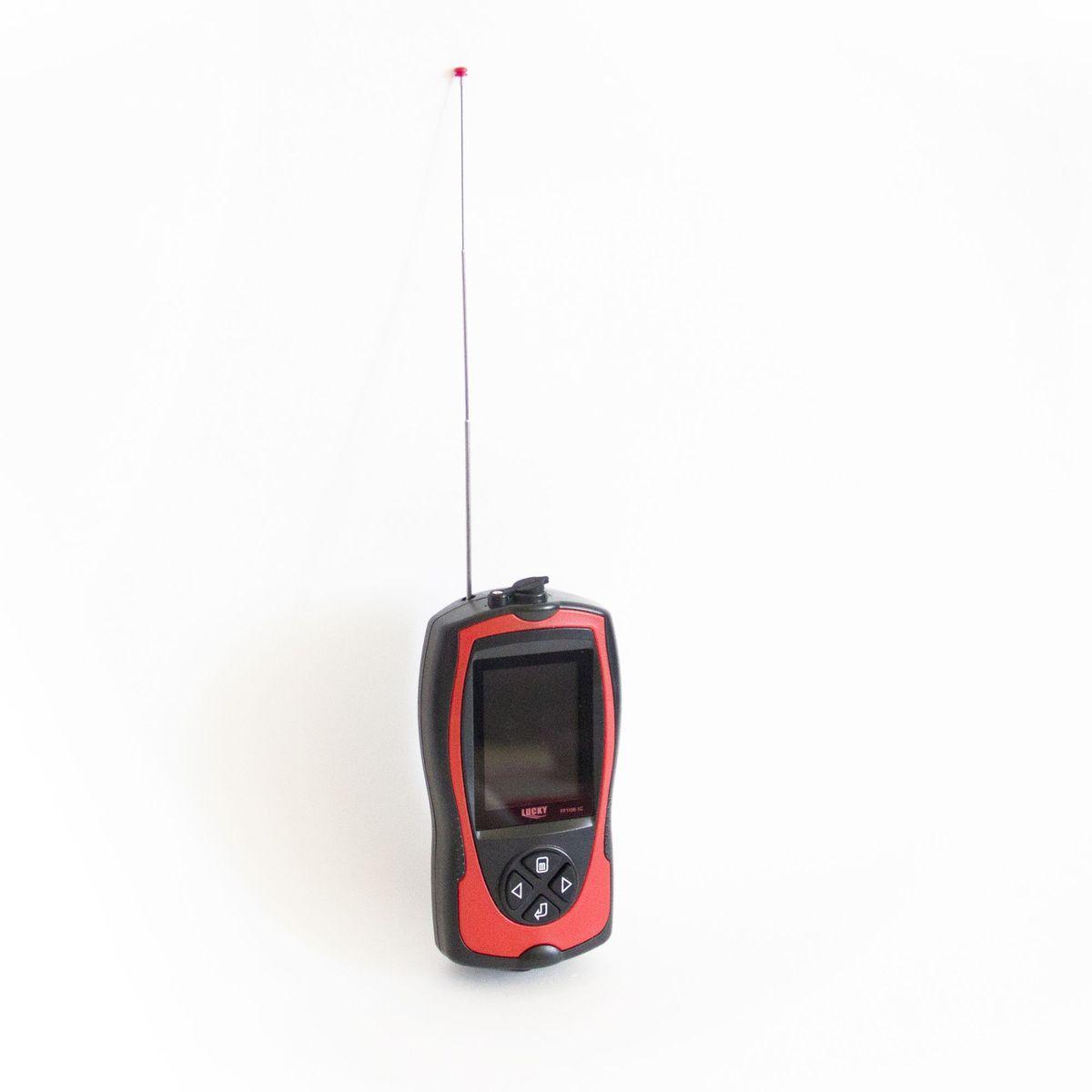 Эхолот рыбопоисковый  Lucky , с цветным дисплеем и радиодатчиком, цвет: черный. FFW1108-1С - Рыбалка