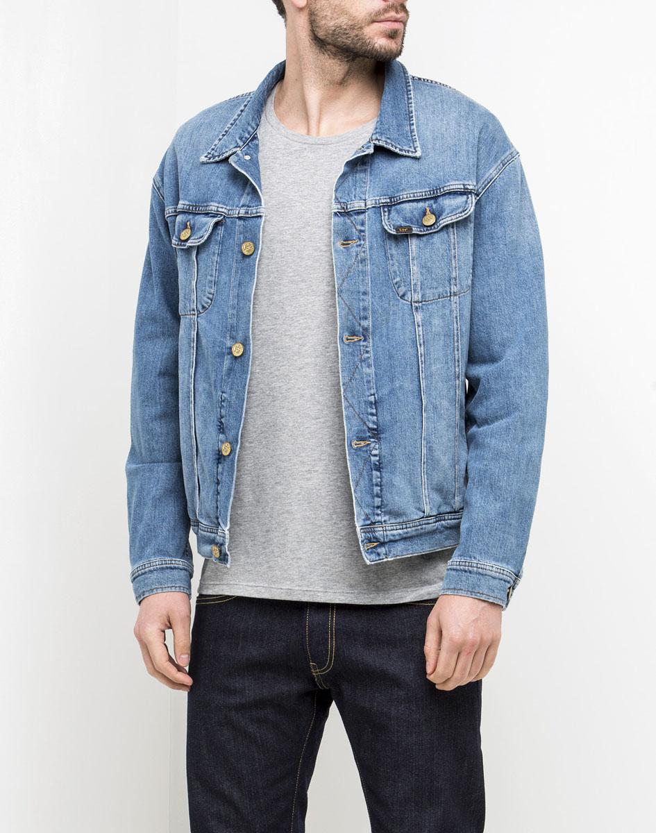 Куртка мужская Lee, цвет: голубой. L88ZAPDF. Размер XXL (54)L88ZAPDF