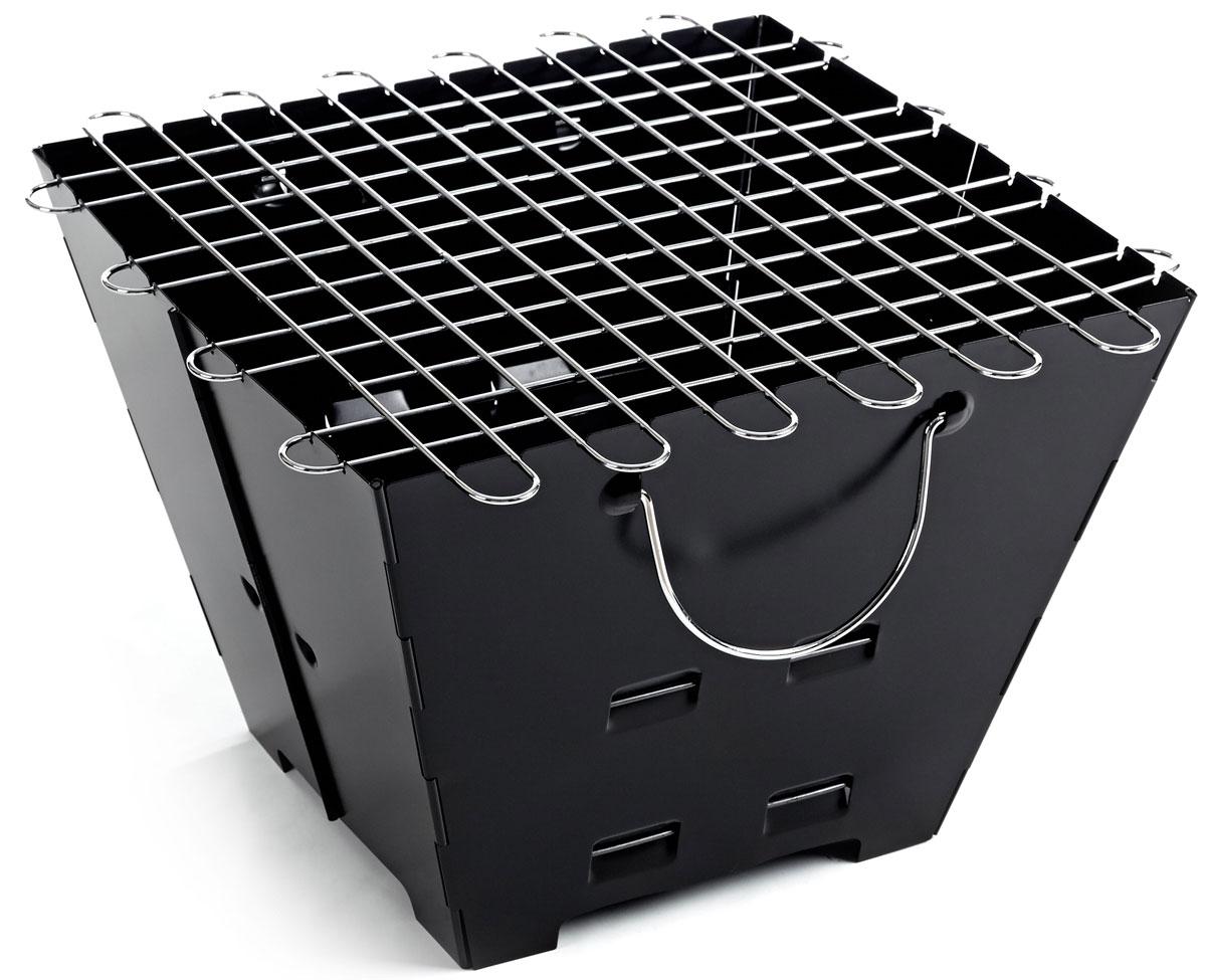 Гриль портативный Higashi, складнойА501Компактный, лёгкий складной гриль - для тех кто не любит манаглы и шампура! Готовим мясо и овощи на решётке из нержавеющей стали. Толщина в сложенном виде всего 3 см! Толщина стенок: 0.8 мм. Материал: лист стальной холоднокатанный. Сумка для переноски в комплекте. Благодаря своей компактности, не большому весу и наличию сумки, удобно не только перевозить с собой в багажнике автомобиля, но и брать с собой в небольшие пешие вылазки.