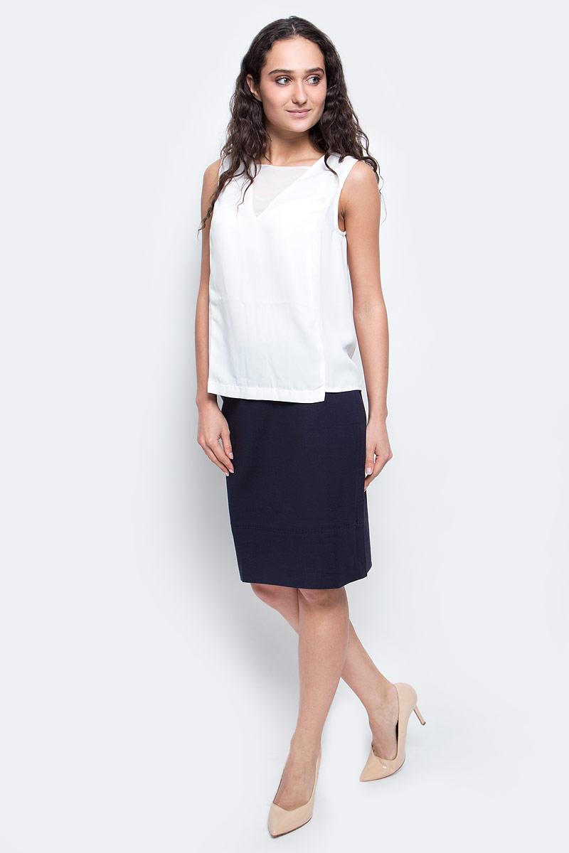 Топ женский Baon, цвет: белый. B267002_White. Размер L (48) женский гардероб