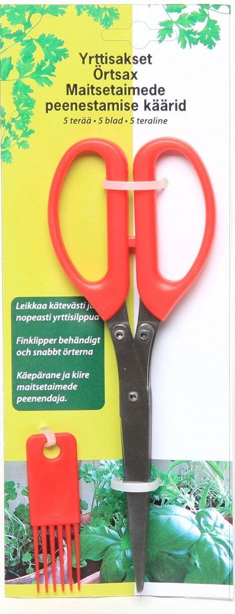Ножницы для измельчения зелени Natura. 219845219845Многослойные ножницы Natura предназначены для измельчения (резки) зелени: петрушки, укропа, кинзы, базилика, репчатого лука. Пять лезвий со специальной заточкой, позволяют без труда измельчить необходимое количество зелени прямо в салат, суп или в другое блюдо, которое вы готовите или принимаете в пищу. Эргономичные ручки ножниц выполнены из пластика. В комплекте имеются специальные кисточки для очистки лезвий. Ножницы для измельчения зелени неприхотливы в уходе. Их можно мыть даже в посудомоечной машине. Вес 190 г.
