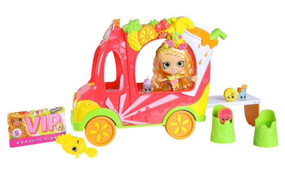 Shopkins Игровой набор с мини-куклой Смузи грузовичок и Тропическая Лили