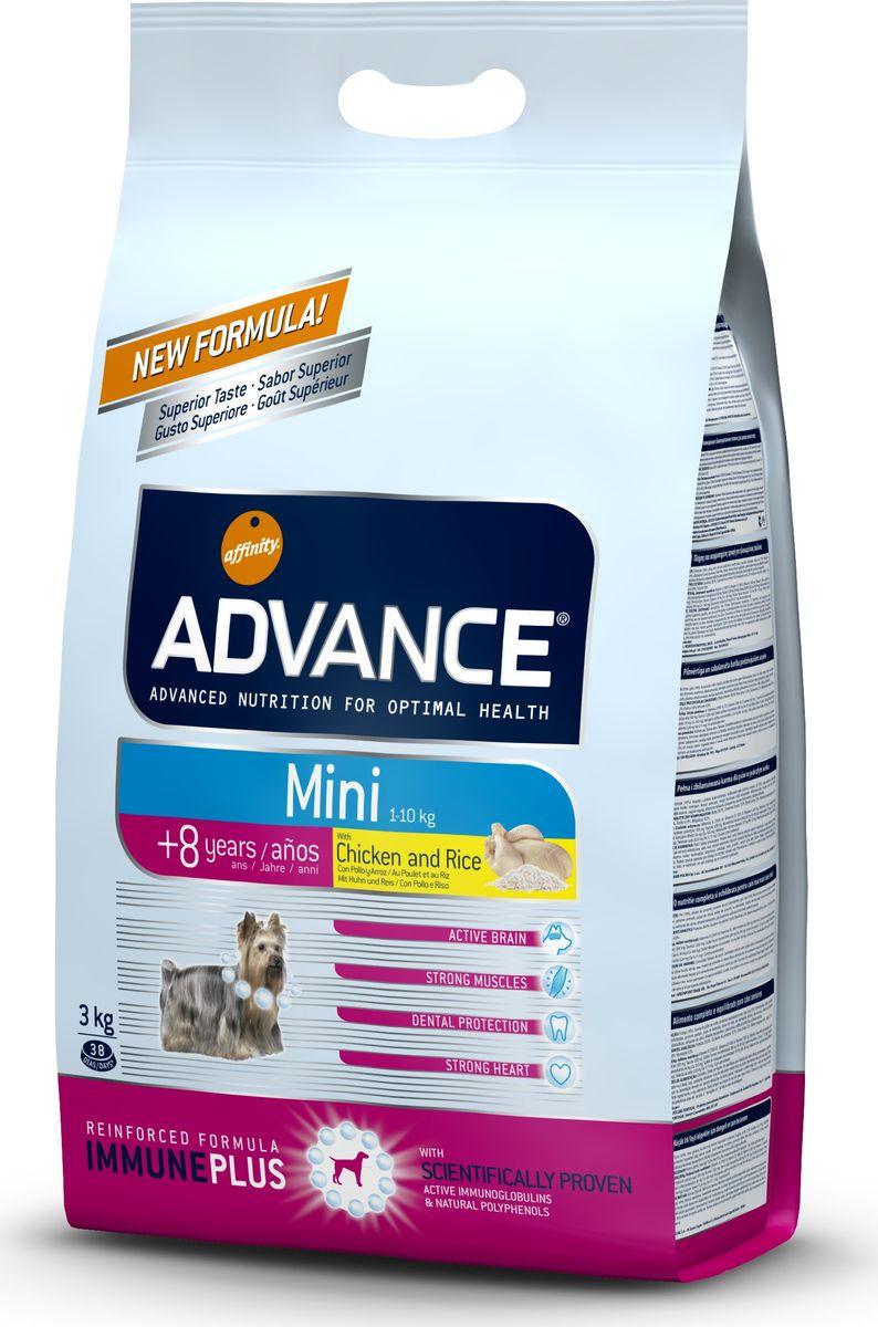 """Корм сухой Advance """"Mini Senior"""" для собак малых пород старше 8 лет, с курицей и рисом, 3 кг"""