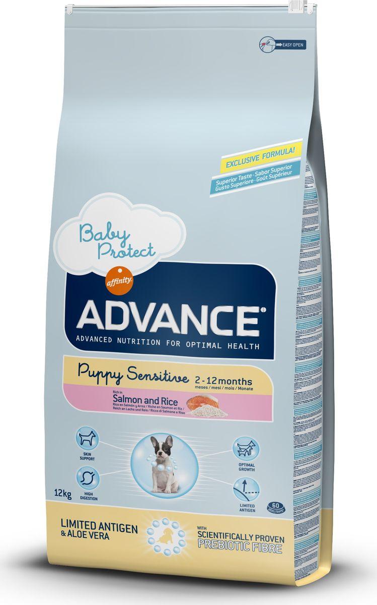 Корм сухой Advance Puppy Sensitive для щенков с чувствительным пищеварением, с лососем и рисом, 12 кг13080/920179Advance - высококачественный корм супер-премиум класса испанской компании Affinity Petcare, которая занимает лидирующие места на европейском и мировом рынках. Корм разработан с учетом всех особенностей развития и жизнедеятельности собак и кошек. В линейке кормов Advance любой хозяин может подобрать необходимое питание в соответствии с возрастом и уникальными особенностями своего животного, а также в случае назначения специалистами ветеринарной диеты. Affinity Petcare имеет собственную лабораторию, а также сотрудничает с множеством международных исследовательских центров, благодаря чему специалисты постоянно совершенствуют рецептуру и полезные свойства своих кормов. В составе главным источником белка является СВЕЖЕЕ мясо, благодаря которому корм обладает высокими вкусовыми качествами, а также высокой питательной ценностью. Состав: лосось (18%), маис, рис (14%), дегидрированный белок лосося, маисовый глютен, животный жир, гидролизованный белок животного происхождения, картофельный протеин, дрожжи, гидролизованный коллаген, свекольный жом, растительные волокна, хлористый калий, фруктоолигосахариды (0.43%), рыбий жир, карбонат кальция, соль, алоэ вера (0.005%). Товар сертифицирован.