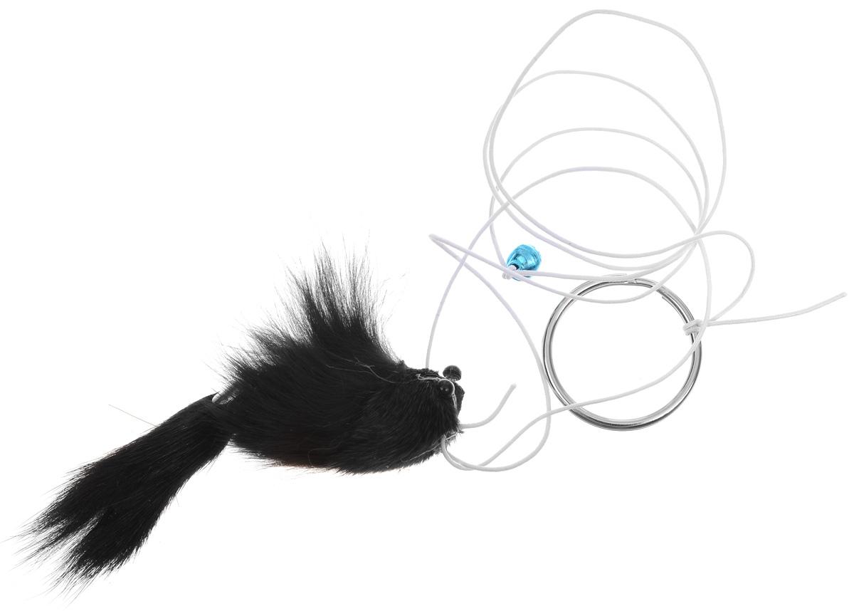 Игрушка для кошек Zoobaloo Погремушка, в ассортименте, длина 89 см121Игрушка для кошек Zoobaloo Погремушка выполнена из мягкого материала в форме плюшевой мышки на шнурке. Помимо забавной мышки, очень похожей на настоящую, игрушка снабжена колокольчиком, который великолепно стимулирует слух вашего питомца. Гибкий, но прочный резиновый шнурок с удобным кольцом для пальцев дает возможность тянуть игрушку в разные стороны. Абсолютно безопасна. Ваш любимец точно не будет скучать!Длина игрушки (с учетом резинки): 89 см. Размер игрушки: 9 х 2 х 3,5 см. Уважаемые клиенты! Обращаем ваше внимание на возможные изменения в цвете деталей товара. Поставка осуществляется в зависимости от наличия на складе.