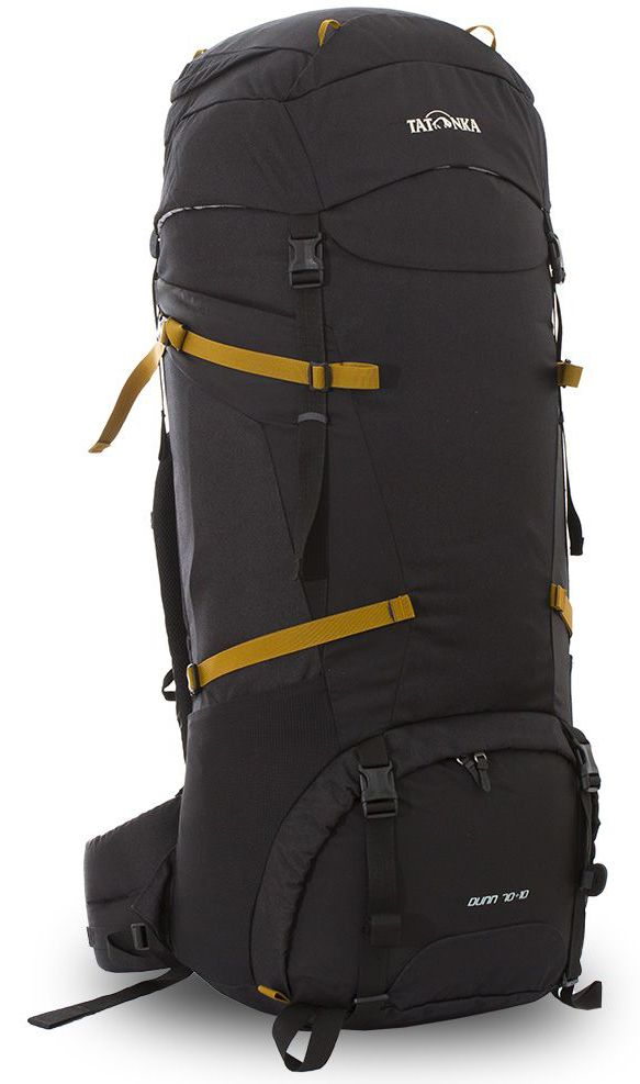 Рюкзак туристический Tatonka Dunn, цвет: черный, 80 лDI.6035.040Классический туристический рюкзак Tatonka Dunn выполнен в строгом дизайне из прочной ткани Textreme 6.6. Два просторных отделения позволит с удобством разместить все необходимые в походе или путешествии вещи. За счет объемной крышки и расширяющегося основного отделения объем рюкзака достигает 80 литров. Прочная удобная спинка рюкзака выполнена с учетом анатомических особенностей спины человека, благодаря этому с рюкзаком будет комфортно идти даже в продолжительном походе. Нижнее и основное отделения рюкзака разделены съемной перегородкой на молнии, одним движением их можно соединить между собой или снова разделить. Доступ в основное отделение осуществляется через верхний расширяющийся вход, а нижнее отделение оснащено молнией с двумя бегунками, благодаря чему можно получить доступ к конкретным нужным вещам, не открывая молнию полностью. Особенности:- Система подвески Y1.- Одно основное отделение, увеличивающееся в объеме в верхней части.- Объемная крышка рюкзака с крючком для ключей. - 4 петли на крышке. - Крышка рюкзака регулируется по высоте (до 25 см выше стандартного положения).- Затяжка внутреннего отделения на один или два шнура, в зависимости от объема заполнения. - 4 боковые затяжки позволяют регулировать объем.- Петли для крепления треккинговых палок.- Два боковых просторных кармана.- Широкий плотный набедренный пояс с двумя параметрами регулировки (по ширине и степени прилегания к рюкзаку).- Регулировка спины рюкзака позволяет отрегулировать высоту и натяжение лямок относительно спины рюкзака.- Спинка рюкзака выполнена с учетом анатомических особенностей спины человека.- Сетчатые элементы в спине и набедренном поясе обеспечивают вентиляцию в жаркую погоду.- Регулируемый по ширине и высоте нагрудный ремень.- В нагрудный ремень вшита резинка для комфорта движения.- Прочная ручка для переноски и помощи при надевании рюкзака.- Молния в нижнее отделение оснащена двумя бегунками.- Перегородка между 