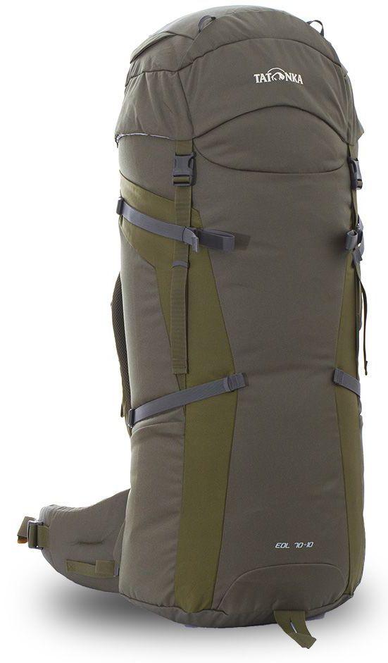 Рюкзак туристический Tatonka Eol, цвет: зеленый, 80 лDI.6057.331Классический туристический рюкзак Tatonka Eol выполнен в строгом дизайне из прочной ткани Textreme 6.6. Два просторных отделения позволит с удобством разместить все необходимые в походе или путешествии вещи. За счет объемной крышки и расширяющегося основного отделения объем рюкзака достигает 80 литров. Прочная удобная спинка рюкзака выполнена с учетом анатомических особенностей спины человека, благодаря этому с рюкзаком будет комфортно идти даже в продолжительном походе. Нижнее и основное отделения рюкзака разделены съемной перегородкой на молнии, одним движением их можно соединить между собой или снова разделить. Доступ в основное отделение осуществляется через верхний расширяющийся вход, а нижнее отделение оснащено молнией с двумя бегунками, благодаря чему можно получить доступ к конкретным нужным вещам, не открывая молнию полностью. Особенности:- Система подвески Y1.- Одно основное отделение, увеличивающееся в объеме в верхней части.- Объемная крышка рюкзака с крючком для ключей. - 4 петли на крышке. - Крышка рюкзака регулируется по высоте (до 25 см выше стандартного положения).- Затяжка внутреннего отделения на один или два шнура, в зависимости от объема заполнения. - 4 боковые затяжки позволяют регулировать объем.- Петли для крепления треккинговых палок.- Два боковых просторных кармана.- Широкий плотный набедренный пояс с двумя параметрами регулировки (по ширине и степени прилегания к рюкзаку).- Регулировка спины рюкзака позволяет отрегулировать высоту и натяжение лямок относительно спины рюкзака.- Спинка рюкзака выполнена с учетом анатомических особенностей спины человека.- Сетчатые элементы в спине и набедренном поясе обеспечивают вентиляцию в жаркую погоду.- Регулируемый по ширине и высоте нагрудный ремень.- В нагрудный ремень вшита резинка для комфорта движения.- Прочная ручка для переноски и помощи при надевании рюкзака.- Молния в нижнее отделение оснащена двумя бегунками.- Перегородка между о