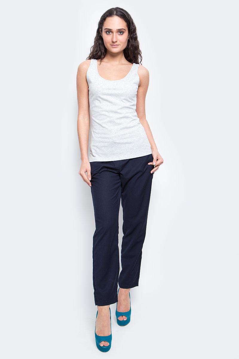 Майка женская Baon, цвет: светло-серый меланж. B257202_Silver Melange. Размер XL (50) готово суп гороховый 250 г
