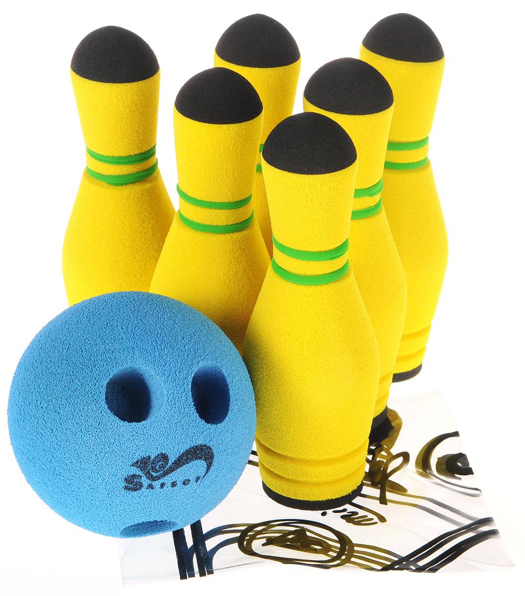 Safsof Игровой набор Мини-боулинг цвет желтый синий