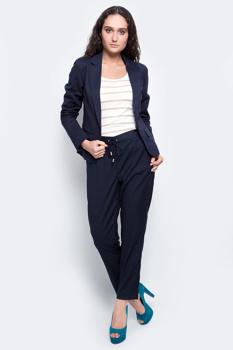 Жакет женский Baon, цвет: темно-синий. B127005_Dark Navy. Размер XL (50) кардиган женский baon цвет черный b147505 black размер xl 50